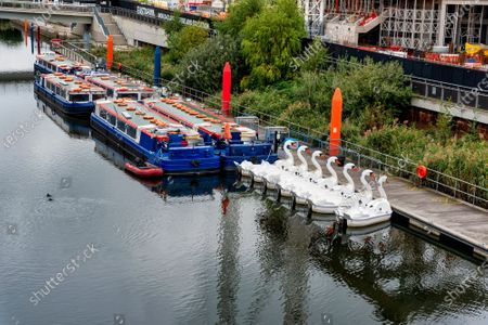 Cruise boats and Swan Pedalos remain tied up at the Queen Elizabeth Olympic Park, despite the government advice to have them open for some household groups.