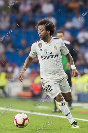 Marcelo Vieira Da Silva of Real Madrid in action during the La Liga 2018-19 match between Real Madrid and CD Leganes at Estadio Santiago Bernabeu