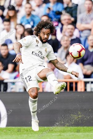 Stock Photo of Marcelo Vieira Da Silva of Real Madrid in action during the La Liga 2018-19 match between Real Madrid and Levante UD at Estadio Santiago Bernabeu