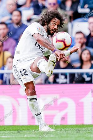 Stock Picture of Marcelo Vieira Da Silva of Real Madrid in action during the La Liga 2018-19 match between Real Madrid and Levante UD at Estadio Santiago Bernabeu