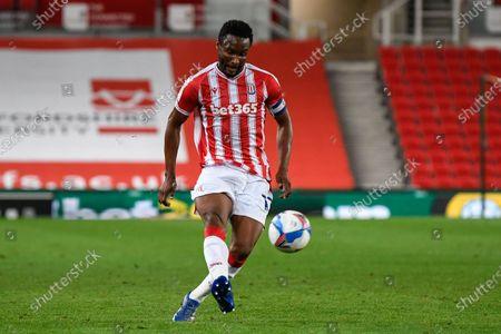 Stock Photo of John Obi Mikel (13) of Stoke City crosses the ball