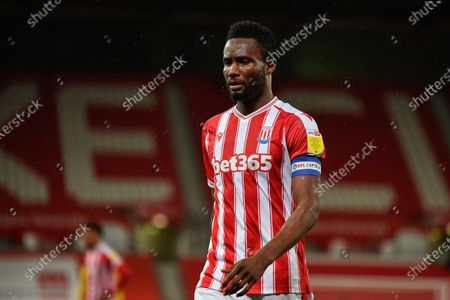 Stock Image of John Obi Mikel (13) of Stoke City in action during the game