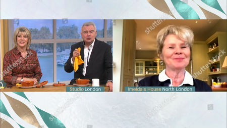 Stock Photo of Ruth Langsford, Eamonn Holmes and Imelda Staunton