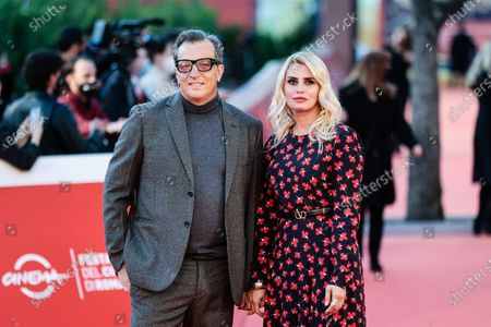 Director Gabriele Muccino with wife Angelica Russo