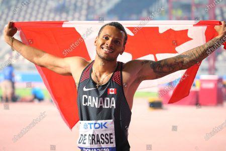 Andre De Grasse (CAN) - Athletics :  IAAF World Championships Doha 2019  Men's 200m Final  at Khalifa International Stadium in Doha, Qatar.