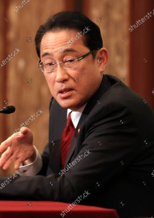 Editorial image of Former Japanese Foreign Minister Fumio Kishida holds a press conference as he published a book, Tokyo, Japan - 21 Oct 2020