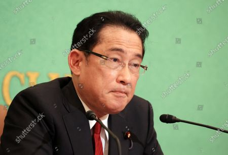 Editorial photo of Former Japanese Foreign Minister Fumio Kishida holds a press conference as he published a book, Tokyo, Japan - 21 Oct 2020
