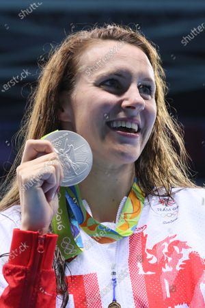 Jazz Carlin (GBR) - Swimming : Women's 800m Freestyle Medal Ceremony at Olympic Aquatics Stadium during the Rio 2016 Olympic Games in Rio de Janeiro, Brazil.
