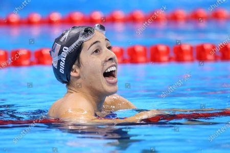 Maya Dirado (USA) - Swimming : Women's 200m Backstroke Final at Olympic Aquatics Stadium during the Rio 2016 Olympic Games in Rio de Janeiro, Brazil.