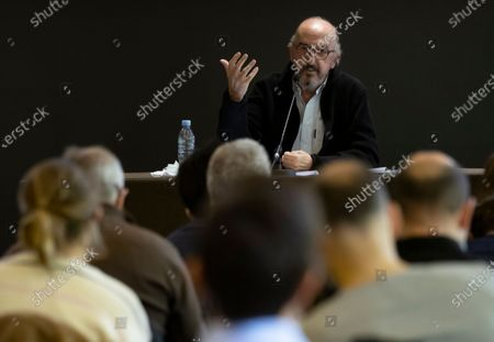 Jaume Roures, CEO of Mediapro, a prominent television company, during a press conference in Paris, France, 21 October 2020.