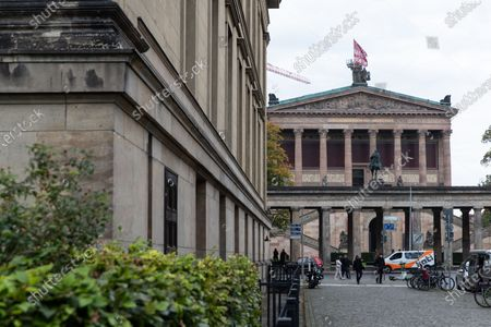 A exterior view of the Old National Gallery (Alte Nationalgalerie) on the Museum Island (Museumsinsel) in Berlin, Germany, 21 October 2020. On 03 October, at least 70 artworks and antiques were damaged by unknown perpetrators. The police and museums have remained silent until 20 October, German media Deutschlandfunk (DLF) and Die Zeit made public.