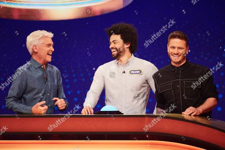 From Possessed  5 Gold Rings: SR4: Ep1 on ITV Pictured: Phillip Schofield, Frank and Matthew Wolfenden.
