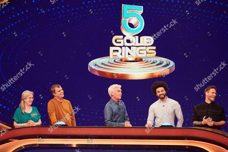 From Possessed  5 Gold Rings: SR4: Ep1 on ITV Pictured: Brenda, Simon Gregson, Phillip Schofield, Frank and Matthew Wolfenden.