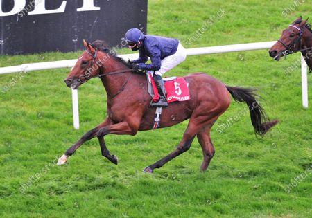 GOWRAN PARK SANDHURST and Seamie Heffernan win the Irish Stallion Farms EBF Race for trainer Aidan O'Brien. Healy Racing