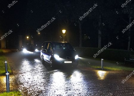 Stock Picture of King Willem-Alexander, Queen Maxima, Princess Amalia, Princess Alexia and Princess Ariane arrive at palace Huis ten Bosch after their holiday in Greece