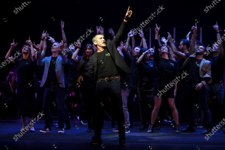 Spanish actor Antonio Banderas during the presentation of the bew 2020-21 season of the Soho Theatre of Malaga on 21 October 2020 where he has announced that he will direct and act at the musiscal play 'Company' by Stephen Sondheim.