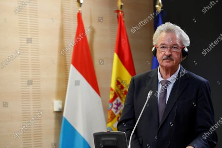 Luxembourg's Foreing Affairs Minister Jean Asselborn speaks during a joint press conference with his Spanish counterpart Gonzalez Laya after their meeting at Viana Palace in Madrid, Spain, 21 October 2020.