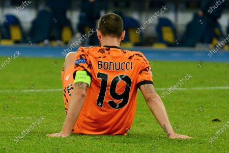 KYIV, UKRAINE - OCTOBER 20, 2020 - Leonardo Bonucci of Juventus in action during the UEFA Champions League group stage soccer match between Dynamo Kyiv and Juventus