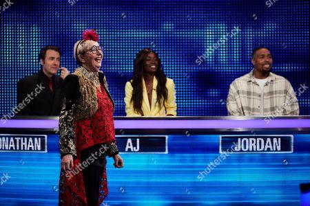 (L-R) Jonathan Ross, Su Pollard, Aj Odudu and Jordan Banjo
