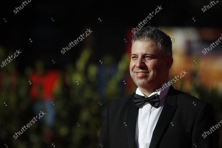 "Director Evgeny Afineevsky poses during the red carpet for the movie ""Francesco"" at the Rome Film Festival, in Rome"