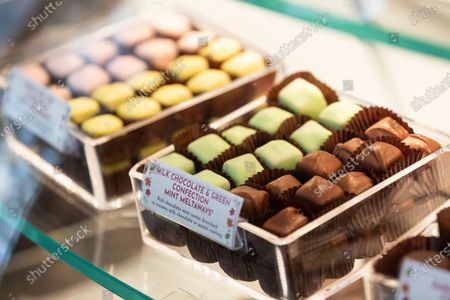 Stock Picture of The Mint Meltaway is one of Fannie May's most popular confection and combines chocolate and peppermint flavors displayed on Tuesday, Oct. 20 in Park Ridge, Ill