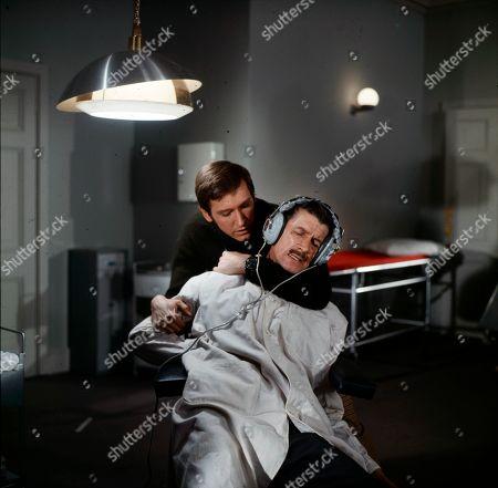 Joel Fabiani as Stewart Sullivan and Michael Gwynn as Drieker