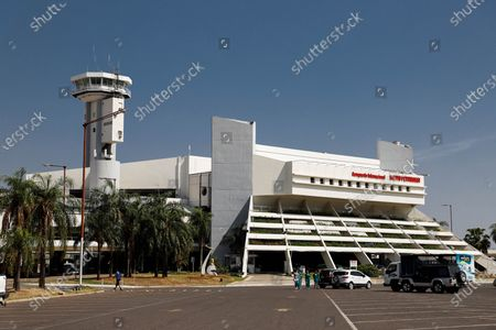 Exterior view of the Silvio Pettirossi International Airport, in Luque, Paraguay, 21 October 2020. Paraguay's main international airports, Silvio Pettirossi, which serves Asuncion, and Guarani (Ciudad del Este), resumed activity for regular flights on 21 October, after about seven months closed as a measure to prevent the spread of the coronavirus.