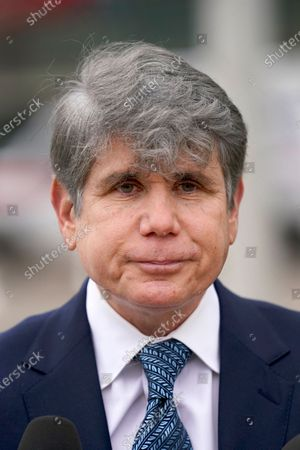 Former Illinois Gov. Rod Blagojevich listens to a question, after Blagojevich endorsed Chicago businessman Willie Wilson for the U.S. Senate seat currently held by incumbent Dick Durbin, D-Illinois, during a news conference in Chicago