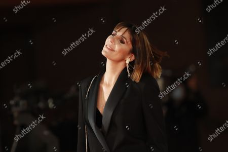 "Director Elisa Amoruso poses during the red carpet for the movie ""Maledetta Primavera"" at the Rome Film Festival, in Rome"