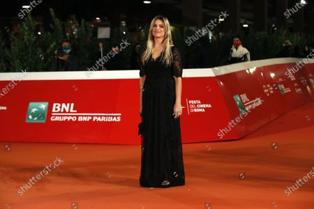 "Actress Micaela Ramazzotti poses during the red carpet for the movie ""Maledetta Primavera"" at the Rome Film Festival, in Rome"
