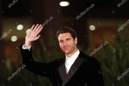 "Actor Giampaolo Morelli poses during the red carpet for the movie ""Maledetta Primavera"" at the Rome Film Festival, in Rome"