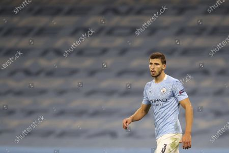 Manchester City's Ruben Dias during the Champions League group C soccer match between Manchester City and FC Porto at the Etihad stadium in Manchester, England