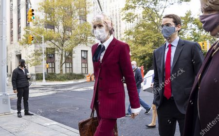 Editorial image of E. Jean Carroll  Arrives for Hearing at US Federal Court, New York, USA - 21 Oct 2020