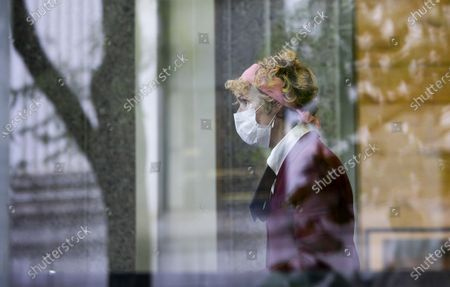 E. Jean Carroll arrives to Federal District Court to attend a hearing where her attorneys and attorneys for the US Justice Department are arguing about a motion to have the US substituted as the defendant in Carroll's defamation suit against US President Donald J. Trump in New York, New York, USA, 21 October 2020. Carroll, who has accused Trump of raping her in a dressing room in the 1990s, has sued Trump for a number of allegedly defamatory statements he made after the release of her book in 2019.