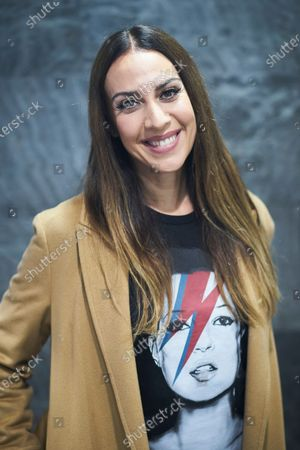 Stock Image of Monica Naranjo during a promotional event for Cinesa at Proyecciones Cinesa