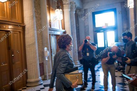 Editorial photo of Senators vote at the US Capitol., Washington, District of Columbia, USA - 21 Oct 2020