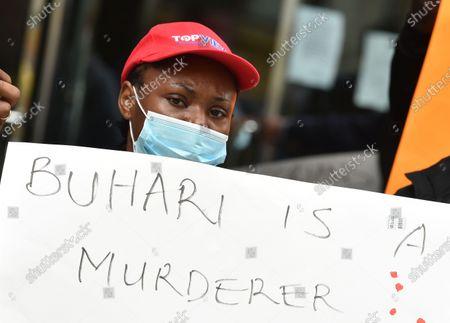 Redakční obrázek na téma March For Nigerian Lives, New York, USA - 21 Oct 2020