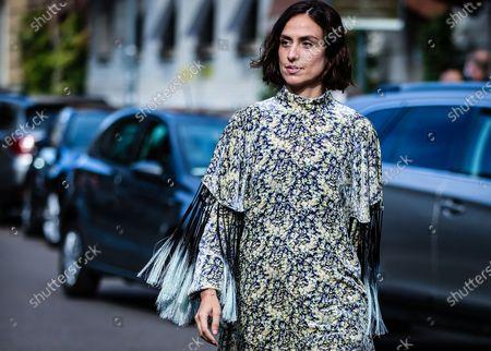 Editorial image of Street Style, Spring Summer 2021, Milan Fashion Week, Italy - 26 Sep 2020