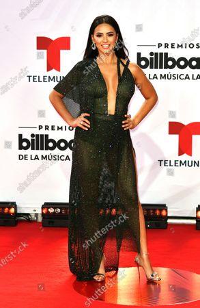 Ana Jurka arrives at the Billboard Latin Music Awards, at the BB&T Center in Sunrise, Fla