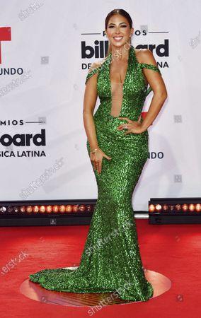 Stephanie Himonidis arrives at the Billboard Latin Music Awards, at the BB&T Center in Sunrise, Fla