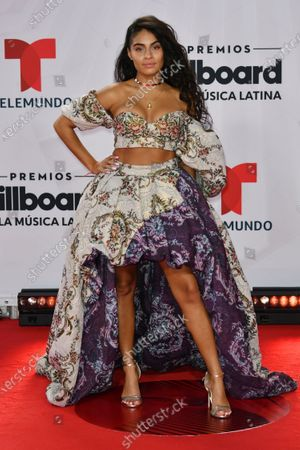 Jessie Reyez arrives at the Billboard Latin Music Awards, at the BB&T Center in Sunrise, Fla