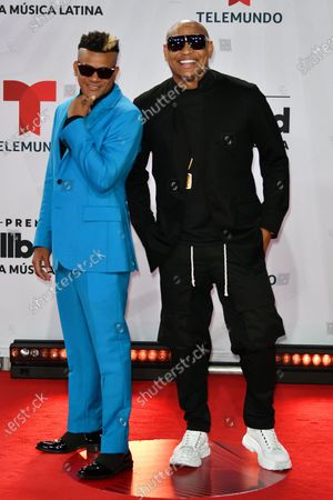 Stock Image of Gente de Zona arrives at the Billboard Latin Music Awards, at the BB&T Center in Sunrise, Fla
