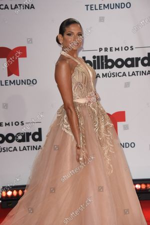 Stock Picture of Natalia Jimenez arrives at the Billboard Latin Music Awards