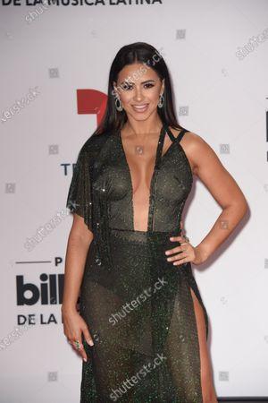 Ana Jurka arrives at the Billboard Latin Music Awards
