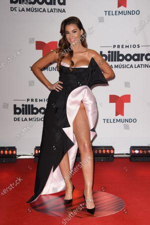 Nastassja Bollivar arrives at the Billboard Latin Music Awards