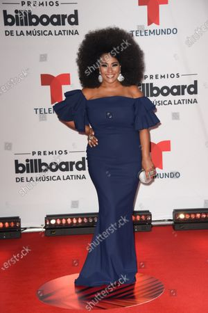 Aymee Nuviola arrives at the Billboard Latin Music Awards