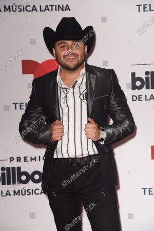 Stock Picture of Gerardo Ortiz arrives at the Billboard Latin Music Awards
