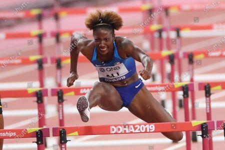 Nia Ali (USA) - Athletics :  IAAF World Championships Doha 2019  Women's 100m Hurdles Final  at Khalifa International Stadium in Doha, Qatar.