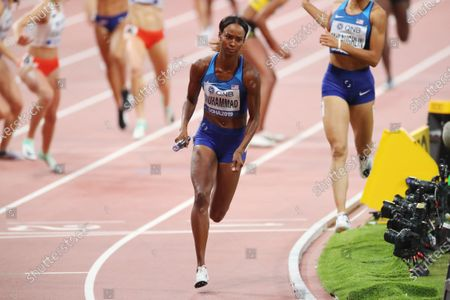 Dalilah Muhammad (USA) - Athletics :  IAAF World Championships Doha 2019  Women's 4400m Relay Final  at Khalifa International Stadium in Doha, Qatar.