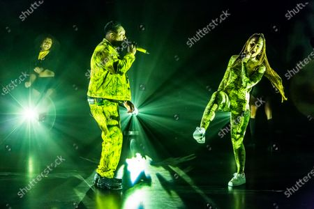 Dizzee Rascal and Ella Eyre performing